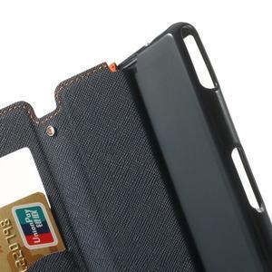 Okýnkové puzdro pre mobil Sony Xperia Z1 Compact - oranžové - 6