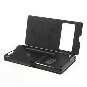 Okýnkové pouzdro na mobil Sony Xperia Z1 - červené - 6
