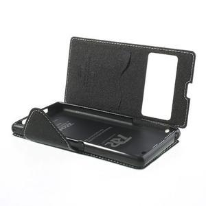Okýnkové puzdro pre mobil Sony Xperia Z1 - biele - 6