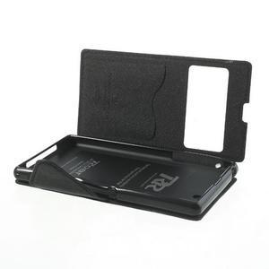 Okýnkové pouzdro na mobil Sony Xperia Z1 - černé - 6