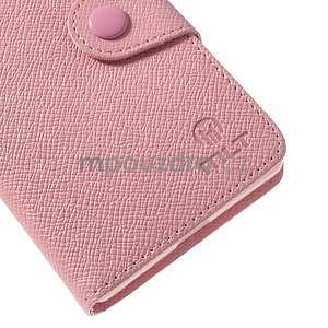 Štýlové Peňaženkové puzdro pre Sony Xperia Z2 - ružové - 6