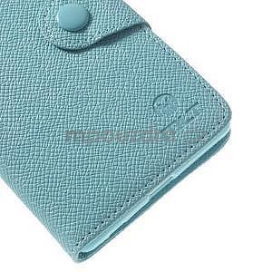 Štýlové Peňaženkové puzdro pre Sony Xperia Z2 - svetle modré - 6