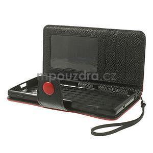 Štýlové Peňaženkové puzdro pre Sony Xperia Z2 - červené/čierne - 6