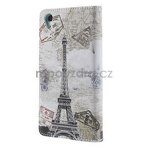 Stylové peněženkové pouzdro na Sony Xperia Z2 - Eiffelova věž - 6