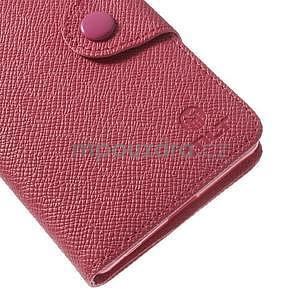 Štýlové Peňaženkové puzdro pre Sony Xperia Z2 - rose - 6