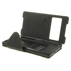 Okýnkové puzdro pre mobil Sony Xperia Z2 - žlté - 6