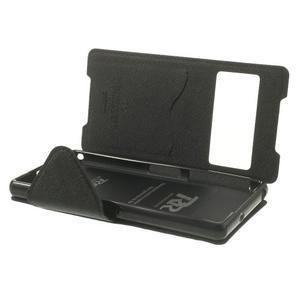 Okýnkové puzdro pre mobil Sony Xperia Z2 - čierne - 6