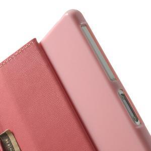 Sonata PU kožené puzdro pre mobil Sony Xperia Z2 - ružové - 6