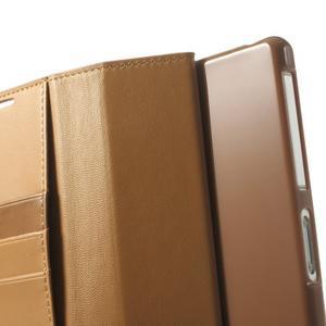 Sonata PU kožené puzdro pre mobil Sony Xperia Z2 - hnedé - 6