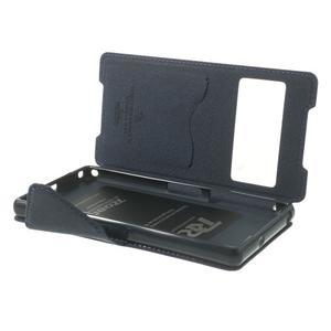 Okýnkové puzdro pre mobil Sony Xperia Z2 - fialové - 6