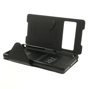 Okýnkové puzdro pre mobil Sony Xperia Z2 - tmavomodré - 6