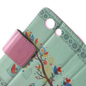 Pictu Peňaženkové puzdro pre Sony Xperia Z3 Compact - vtáčik v kleci - 6