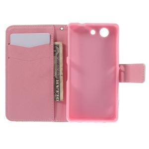 Knížkové puzdro pre mobil Sony Xperia Z3 Compact - be happy - 6