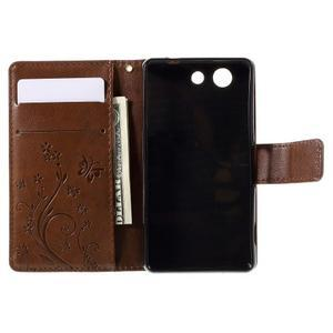 Butterfly PU kožené pouzdro na mobil Sony Xperia Z3 Compact - hnědé - 6