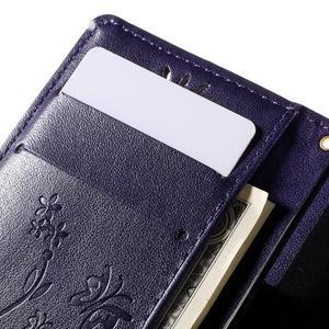 Butterfly PU kožené puzdro pre mobil Sony Xperia Z3 Compact - fialové - 6