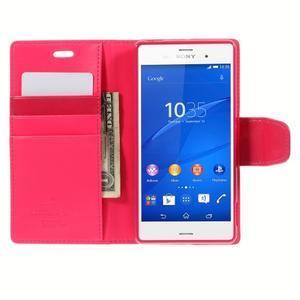 Sonata PU kožené puzdro pre mobil Sony Xperia Z3 - rose - 6