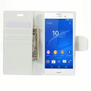 Sonata PU kožené pouzdro na mobil Sony Xperia Z3 - bílé - 6