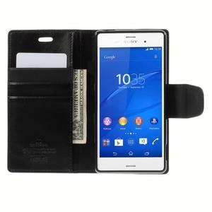 Sonata PU kožené puzdro pre mobil Sony Xperia Z3 - čierne - 6