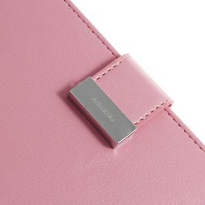 Luxury PU kožené puzdro pre mobil Sony Xperia Z3 - ružové - 6