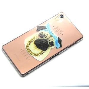 Gélový obal pre mobil Sony Xperia Z3 - mops - 6