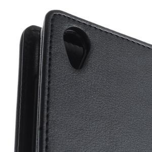 Luxury PU kožené pouzdro na mobil Sony Xperia Z3 - černé - 6