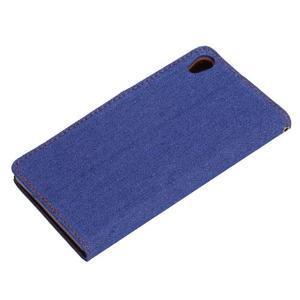 Jeans knížkové pouzdro na mobil Sony Xperia Z3 - tmavěmodré - 6