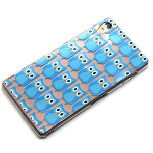 Gélový obal pre mobil Sony Xperia Z3 - modré malej sovy - 6