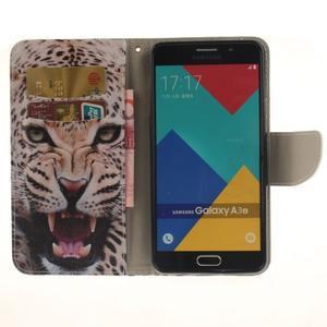 Patt peňaženkové puzdro pre Samsung Galaxy A3 (2016) - leopard se zoubky - 6