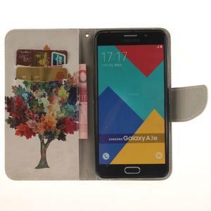 Patt peňaženkové puzdro pre Samsung Galaxy A3 (2016) - farebný strom - 6