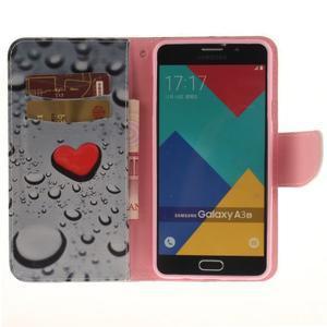 Patt peňaženkové puzdro pre Samsung Galaxy A3 (2016) - srdca - 6