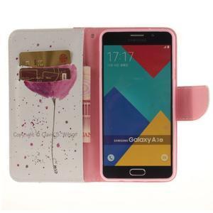 Patt peněženkové pouzdro na Samsung Galaxy A3 (2016) - mák - 6