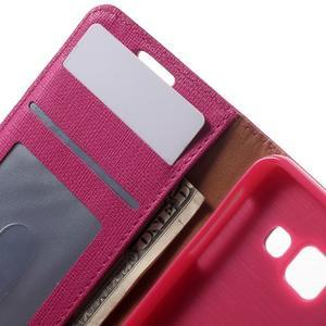 Cloth peňaženkové puzdro pre mobil Samsung Galaxy A3 (2016) - rose - 6