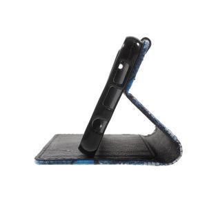 Fun peněženkové pouzdro na Samsung Galaxy A3 (2016) - modrý motýl - 6
