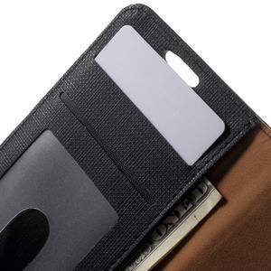 Cloth peňaženkové puzdro pre mobil Samsung Galaxy A3 (2016) - čierne - 6