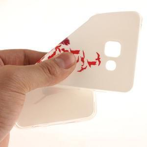 Silk gelový kryt na mobil Samsung Galaxy A3 (2016) - červené peříčko - 6