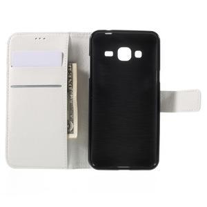 Peňaženkové puzdro pre mobil Samsung Galaxy J3  (2016) - biele - 6