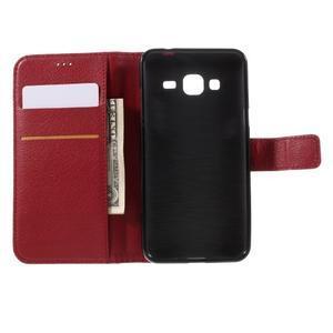 Peněženkové pouzdro na mobil Samsung Galaxy J3  (2016) - červené - 6