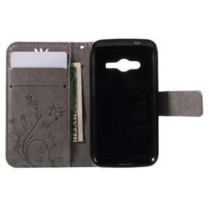 Butterfly puzdro pre mobil Samsung Galaxy Trend 2 Lite - šedé - 6