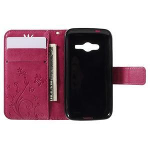 Butterfly puzdro pre mobil Samsung Galaxy Trend 2 Lite - rose - 6