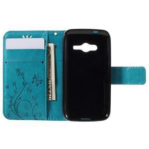Butterfly pouzdro na mobil Samsung Galaxy Trend 2 Lite - modré - 6