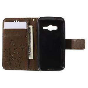 Butterfly puzdro pre mobil Samsung Galaxy Trend 2 Lite - coffee - 6