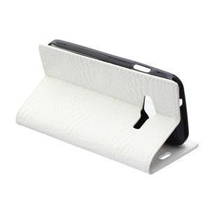 Croco peňaženkové puzdro pre Samsung Galaxy Trend 2 Lite - biele - 6
