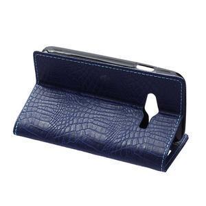 Croco peněženkové pouzdro na Samsung Galaxy Trend 2 Lite - tmavěmodré - 6