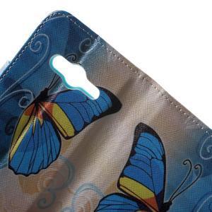 Motive puzdro pre mobil Samsung Galaxy Trend 2 Lite - modrý motýl - 6