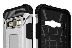Armory odolný obal pre mobil Samsung Galaxy J1 (2016) - strieborny - 6