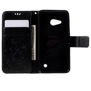 Butterfly koženkové puzdro na Microsoft Lumia 550 - čierné - 6
