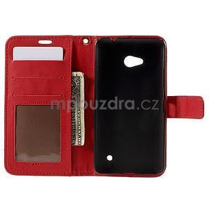 Croco peňaženkové puzdro s krokodílím motívom na Microsoft Lumia 640 - červené - 6