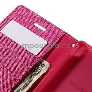 Canvas textilné/koženkové puzdro pre Sony Xperia M4 Aqua - rose - 6