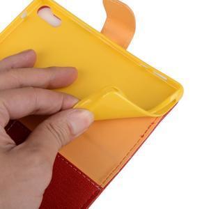 Knížkové puzdro pre mobil Lenovo Vibe Shot - červené - 6