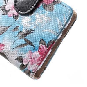 Koženkové puzdro pre mobil Samsung Galaxy J5 - modré pozadie - 6